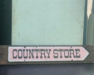 """Country Store"" sign from 1900  Connecticut store"