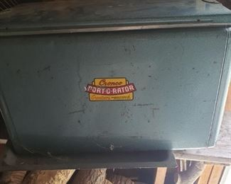 Vintage metal Port-O-Rator cooler
