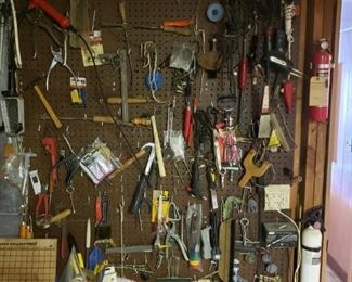 A wall of tools