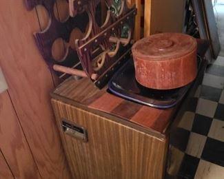Mini fridge, wine rack