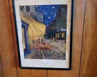 "Van Gogh's ""Cafe by Night"" print"
