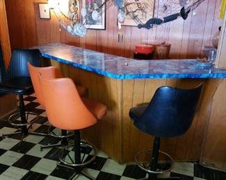 Bar stools, bar decor, bar