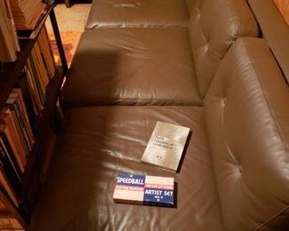 Sofa, books, more