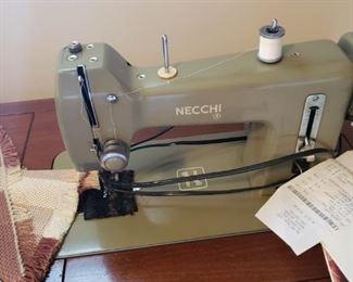 Necchi sewing machine & cabinet