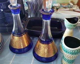 Decanters, vases