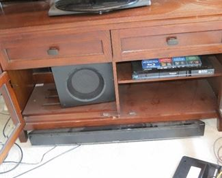SOUND BAR AND SUB WOOFER