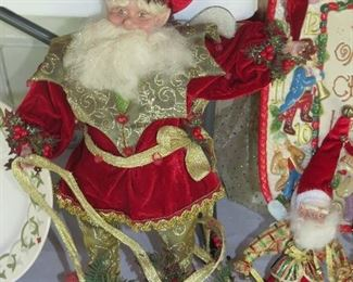 COLLECTIBLE MARK ROBERTS CHRISTMAS ITEMS.