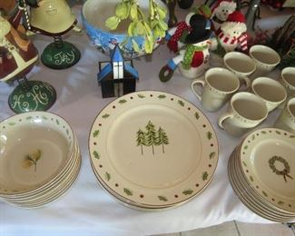 STAR BRITE  CHRISTMAS CHINA FOR 6+