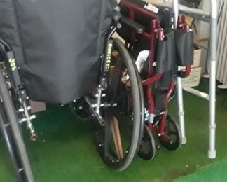 Wheelchair, walker, shower seat.