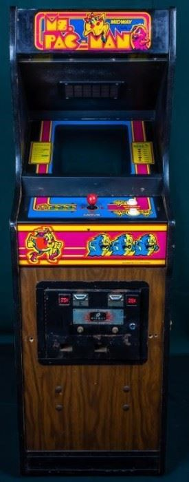 Lot 296 - Vintage Cabaret Ms. Pac-Man Coin-Op Arcade Game