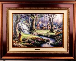 Lot 377 - Art Disney Snow White ME 1/1 Thomas Kinkade COA