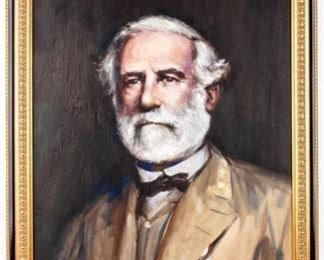 Lot 263 - Art Oil Painting Robert E. Lee by Lindsey
