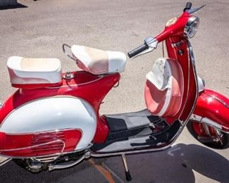 Lot 191 - 1963 Red Vespa 150 MK2 Scooter Vehicle