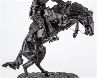 "Lot 2a - Art Remington ""Bronco Buster"" Bronze Sculpture"