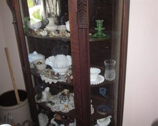 Antique Curio Cabinet and all thats in it!