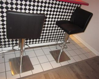 Pub Leather Counter/Bar Adjustable Seating