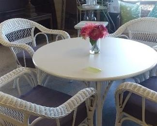 Wicker chairs and table $125