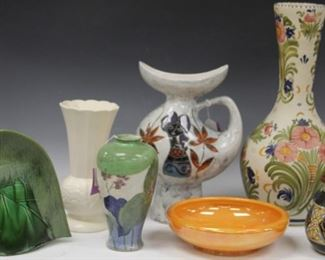 LOT 12 - LOT OF (7) ART GLASS & POTTERY PIECES