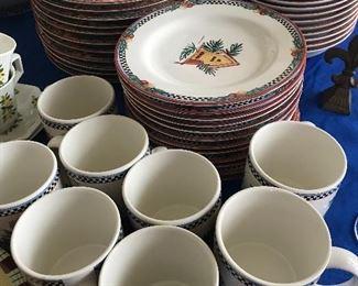 """Sakura """"Pine Cone"""" pattern china set (45 pcs)"""