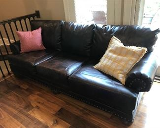 Leather couch (1 of 2)
