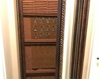 Large full length mirror w/hidden jewelry compartment (open)