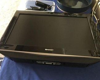 Small SHARP flat screen TV w/wall mount