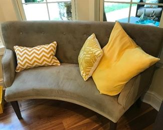 Curved loveseat (1 of 2)