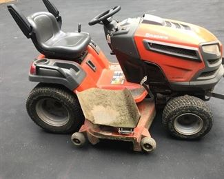Husqvarna riding lawn tractor (in excellent condition)