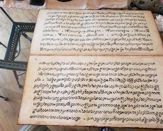 Burmese Buddhist Prayer handwriten book