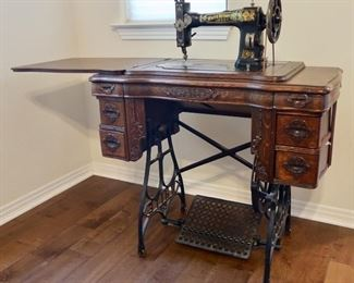 Beautiful Antique Sewing Machine and White Rotary Machine - $295 - PRE-SALE AVAILABLE