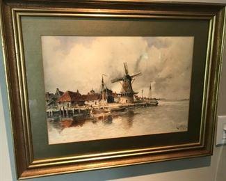 L. Van Staatan Original Watercolor