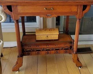 Ornate Victorian Eastlake Table