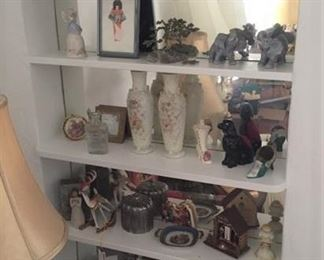 Lots of decorative items are available for sale.
