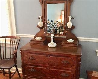 Vanity Dresser with Mirror Eastlake Circa 1890's