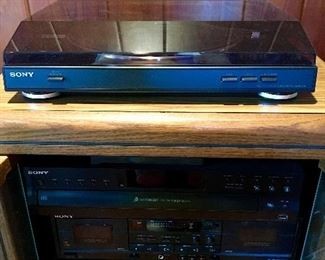 Sony Turntable - Sony  CD Player - Sony Cassette Player - Sony Audio Video Control Center