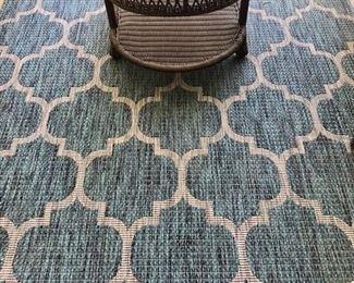 6'x8' outdoor patio rug