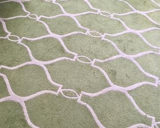"Large area rug measuring 9' x 12'10"""