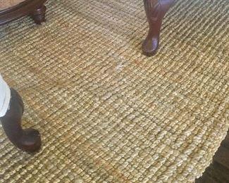 sisal area rug, 8x8 square