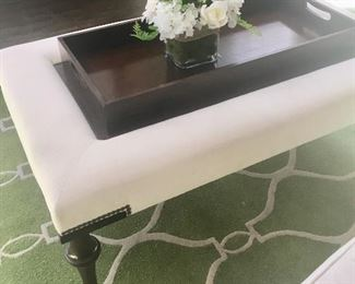 Tray coffee table by Bassett
