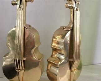 Brass bookends