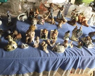 Vintage and collectible figurines.