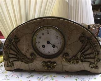 Heavy marble mantel clock