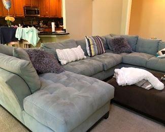 Beautiful grey sofas