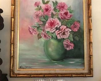 Local artist rose painting