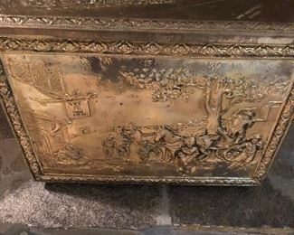 Brass fireplace box