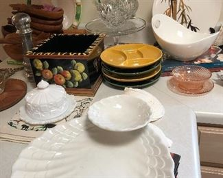 Several nice serving pieces