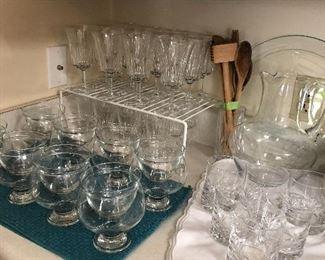 Shrimp cocktail set Crystal glasses