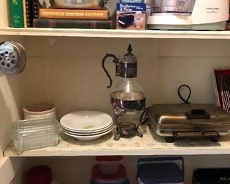 Pantry filled with loads of nice kitchen items......
