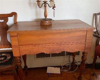 Antique cherry spinet desk
