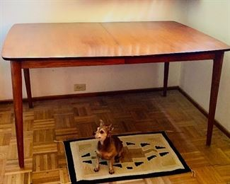 Mid Century Modern dining table with a leaf not shown)